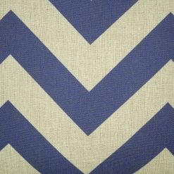 Close up of deep blue chevron cushion