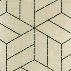 Zoomed in image of light cushion cover with stitch like patterning