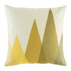 Geometric pattern depicting mountains on cushion cover