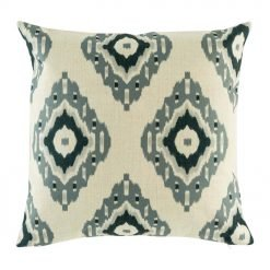 Diamond pattern with dark and light grey accents on cushion cover