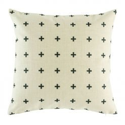 Gorgeous cushion cover with small black cross pattern
