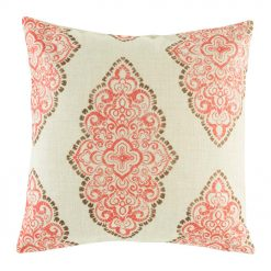 Elegant pattern in red on cushion cover
