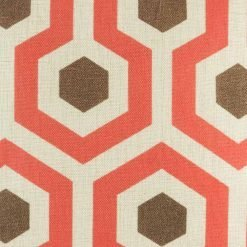 Close up showing retro style pattern on cushion cover