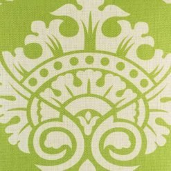Close up of elegant pattern on green cushion cover