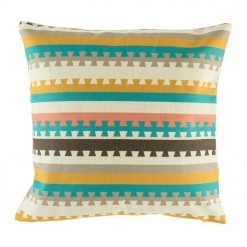 Bright coloured striped scatter cushion