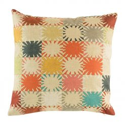 Cushion cover with patch colourful pattern