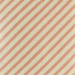 Close up of cushion cover with pink stripe pattern