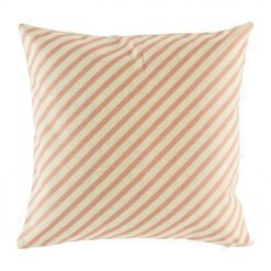 Cushion cover with gradient pink stripe design