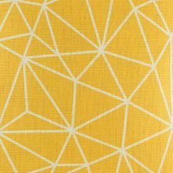 Close up of bright yellow cushion cover