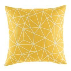 Gold cushion cover with geometric shapes