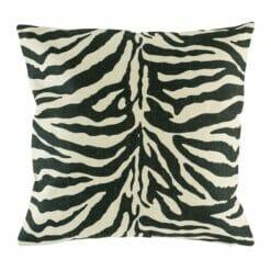 Cushion cover with wild zebra print