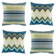 collection of cushion cover set of 4 with zig zag and horizontal pattern