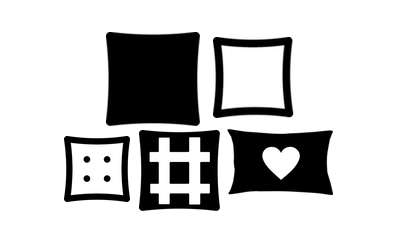 Icon for huge range scattered cushions