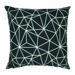 Black and white modern lines velvet cushion cover