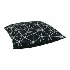 Black and white floor velvet cushion cover