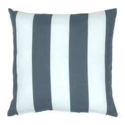 Grey and white cushion cover with stripes design