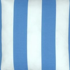 Close up of light and blue outdoor cushion cover
