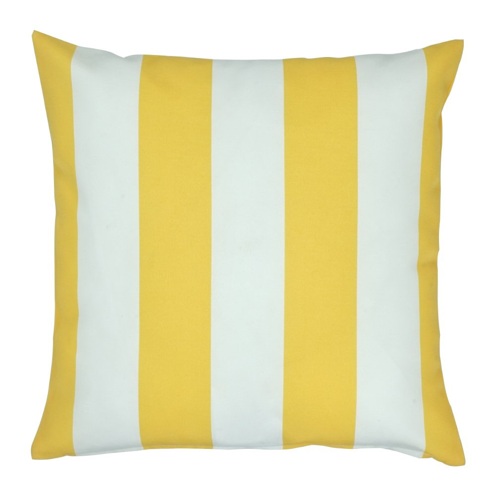 Yellow Thick Stripe Outdoor Cushion Cover Sc315