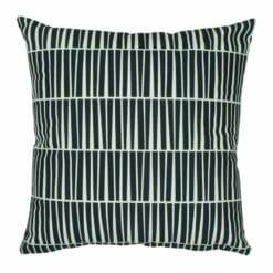 Black and white industrial design velvet cushion cover