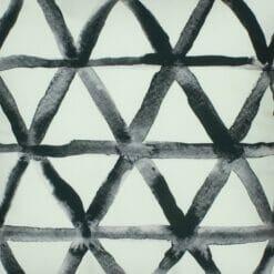 Close up of black and white modern velvet cushion cover