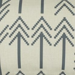 Close up of grey rectangular linen cushion cover