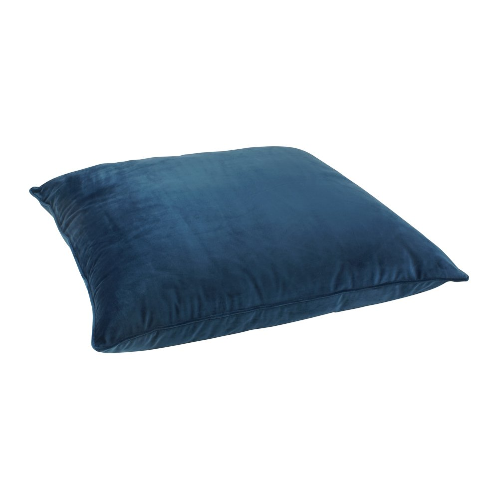 70x70cm shiny blue velvet floor cushion cover