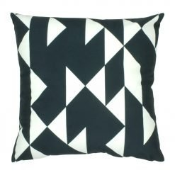 45x45cm black and white velvet cushion cover with triangles