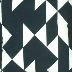 Close up black and white modern pattern velvet cushion