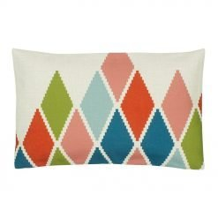 Multi Colour Rectangular Cushion Cover 30x50cm With Diamond Pattern