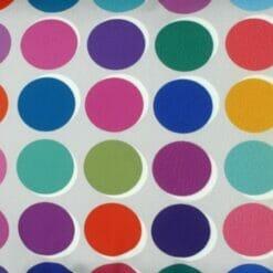 Close up of polka dot velvet cushion cover