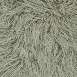 Closeup Image of 45cm x 45cm Ecru Square Fur Cushion Cover