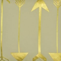 Closeup Image of Square Cushion Cover 45x45cm With Gold Arrow Pattern