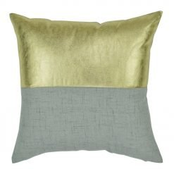 Square Gold and Grey Square Cushion Cover 45x45cm