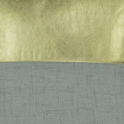 Closeup Image of a Square Gold and Grey Square Cushion Cover 45x45cm