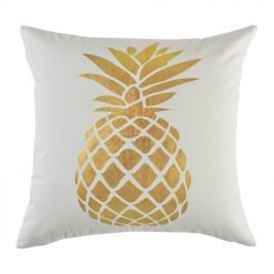 Square Cushion Cover 45x45cm With Gold Pinapple pattern