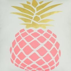 Closeup image of a Pink Pineapple 45x45cm Square Cushion Cover