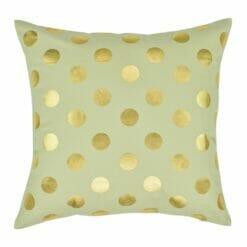 Gold Polka Square Cushion Cover 45x45cm