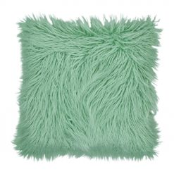 45 x 45 Square Green Fur Cushion Cover