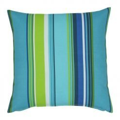 Blue and green stripes cushion cover