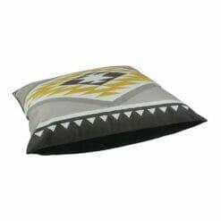 Large aztec inspired square floor velvet cushion