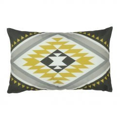 Rectangular aztec inspired outdoor velvet cushion