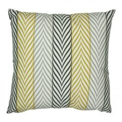 45x45cm velvet cushion cover with stripes in monochromatic yellow