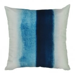 Square velvet cushion with monochromatic blue colors