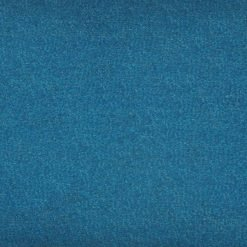 Close up of rectangular blue linen cushion cover