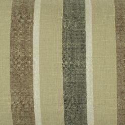 Close up of chestnut coloured rectangular cotton linen cushion