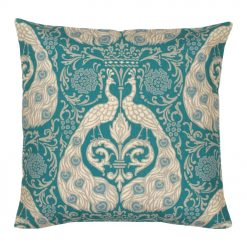 Colour Blue Square Cushion Cover 45x45cm With Royal Pattern