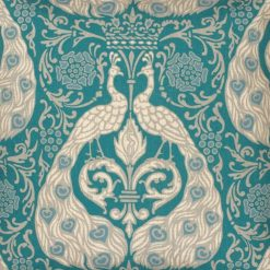 Closeup Image of Colour Blue Square Cushion Cover 45x45cm With Royal Pattern