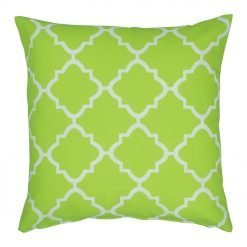 Lime and white square outdoor cushion