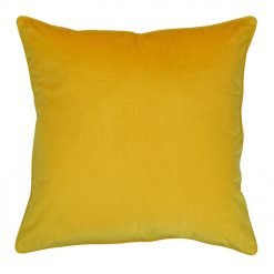 Large 55x55cm monotone mustard yellow outdoor cushion