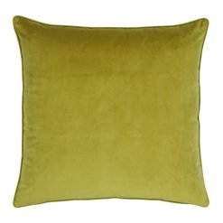 Large 55x55cm monotone olive velvet outdoor cushion